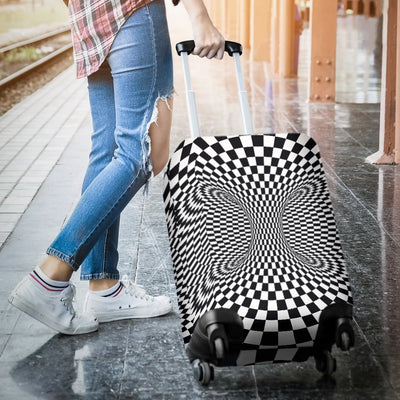 Optical Illusion Projection Torus Luggage Cover Protector