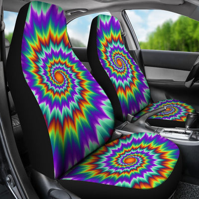 Optical illusion Pulsing fiery spirals Universal Fit Car Seat Covers