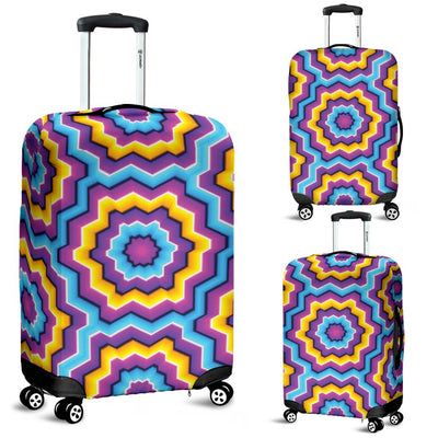 Optical Illusion Techno Movement Luggage Cover Protector