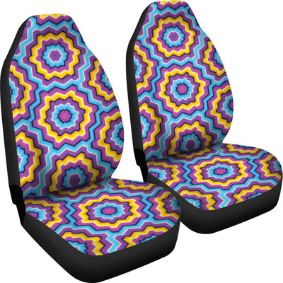 Optical illusion Techno Movement Universal Fit Car Seat Covers