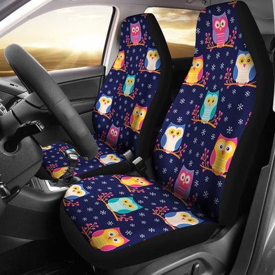 Owl Cute Themed Design Print Universal Fit Car Seat Covers