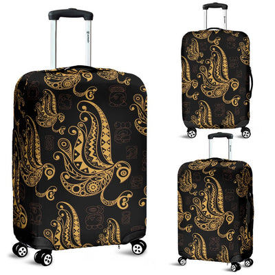 Owl Tribal Polynesian Design Print Luggage Cover Protector