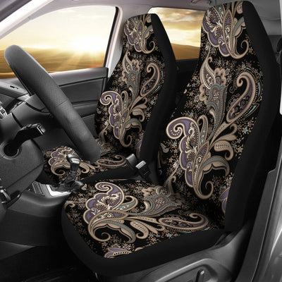 Paisley Mandala Design Print Universal Fit Car Seat Covers