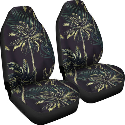 Palm Tree Background Design Print Universal Fit Car Seat Covers