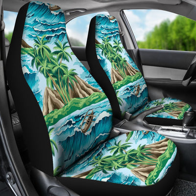 Palm Tree Hawaiian Themed Design Print Universal Fit Car Seat Covers