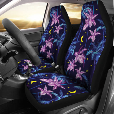 Palm Tree Night Scene Design Print Universal Fit Car Seat Covers