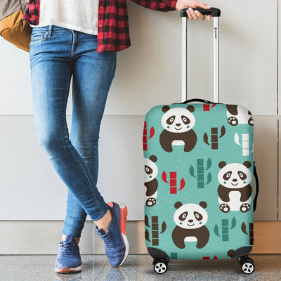 Panda Bear Cute Themed Print Luggage Cover Protector