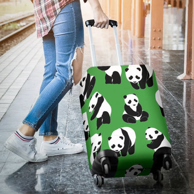 Panda Bear Pattern Themed Print Luggage Cover Protector