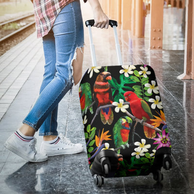Parrot Design Print Luggage Cover Protector