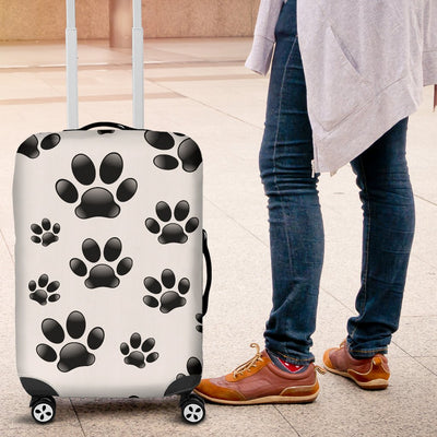 Paw Themed Print Luggage Cover Protector