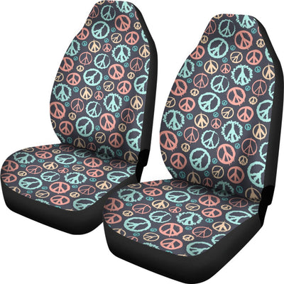 Peace Design No2 Print Universal Fit Car Seat Covers