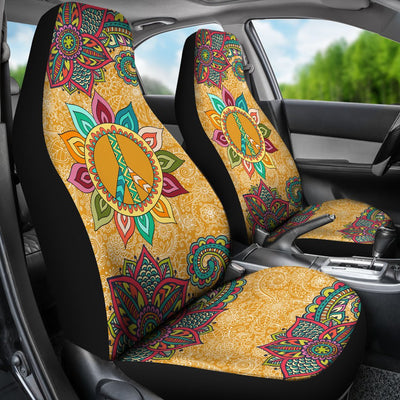 Peace Mandala Design No1 Print Universal Fit Car Seat Covers