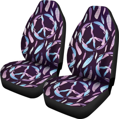 Peace Sign Feather Design Print Universal Fit Car Seat Covers