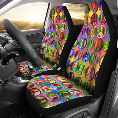 Peace Symbols Print Universal Fit Car Seat Covers
