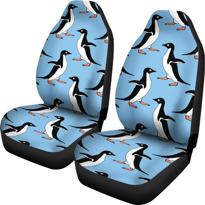 Penguin Dance Pattern Universal Fit Car Seat Covers