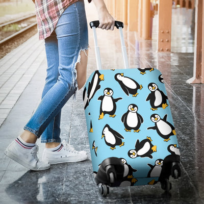 Penguin Happy Print Luggage Cover Protector