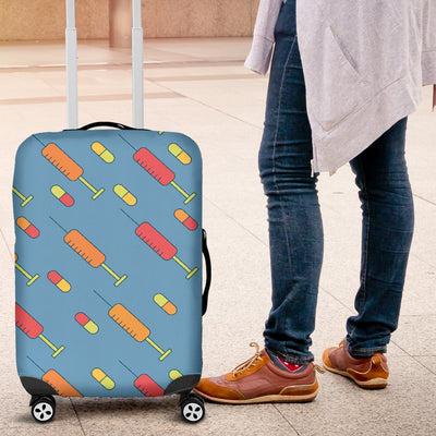 Phlebotomist Medical Pattern Luggage Cover Protector