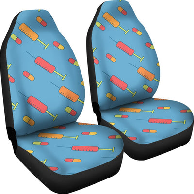 Phlebotomist Medical Pattern Universal Fit Car Seat Covers