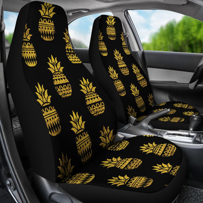Pineapple Gold Tribal Style Print Universal Fit Car Seat Covers