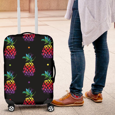 Pineapple Rainbow Dot Print Luggage Cover Protector