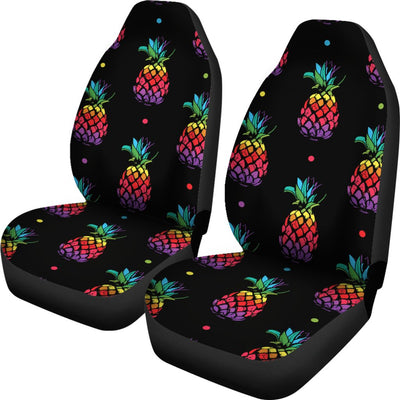 Pineapple Rainbow Dot Print Universal Fit Car Seat Covers