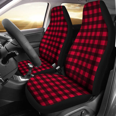 Plaid Red Design No1 Print Universal Fit Car Seat Covers