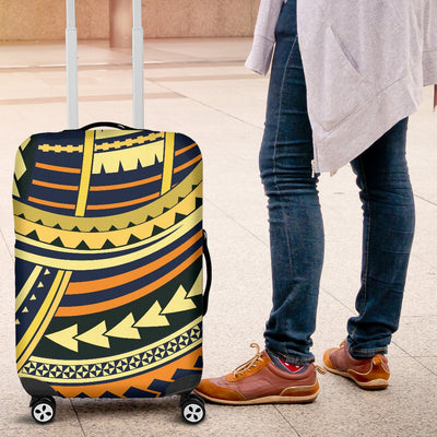 Polynesian Tattoo Print Luggage Cover Protector