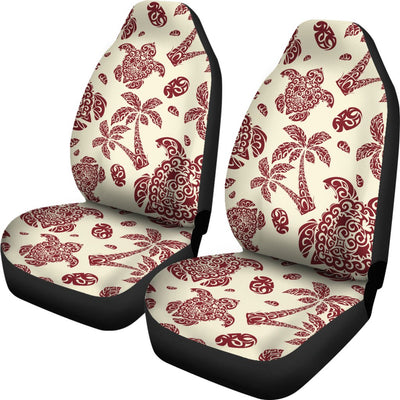 Polynesian Tattoo Turtle Themed Universal Fit Car Seat Covers