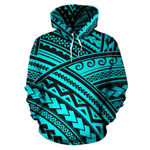 Polynesian Tribal Pullover Hoodie
