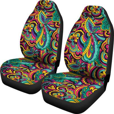 Psychedelic Trippy Floral Design Universal Fit Car Seat Covers