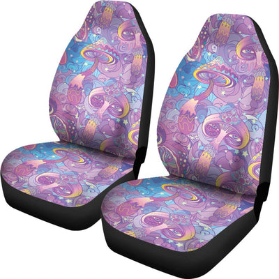 Psychedelic Trippy Mushroom Print Universal Fit Car Seat Covers