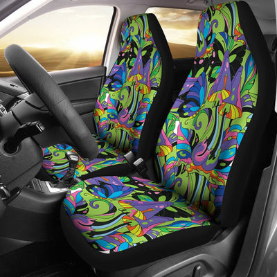 Psychedelic Trippy Mushroom Themed Universal Fit Car Seat Covers