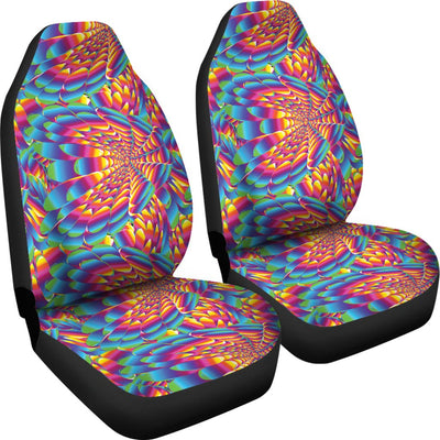 Psychedelic Trippy Pattern Universal Fit Car Seat Covers