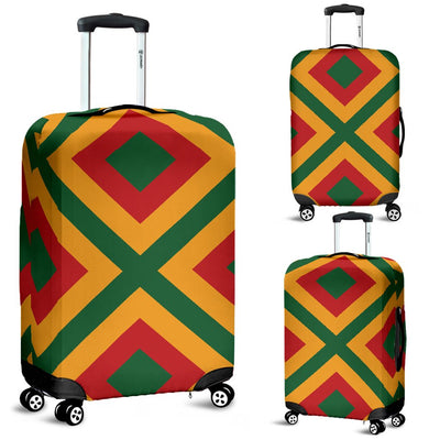 Rasta Reggae Color Cross Luggage Cover Protector