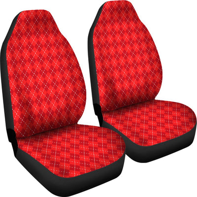 Red Argyle Print Universal Fit Car Seat Covers