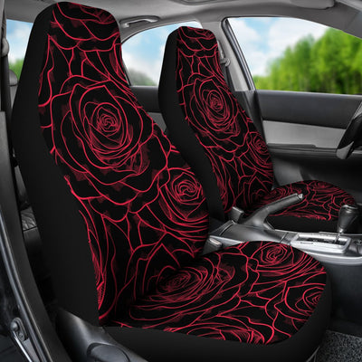 Red Rose Design Print Universal Fit Car Seat Covers
