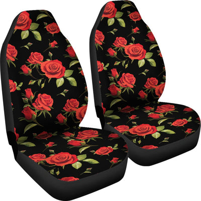 Red Rose Themed Print Universal Fit Car Seat Covers