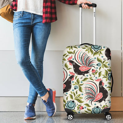 Rooster Print Design Luggage Cover Protector