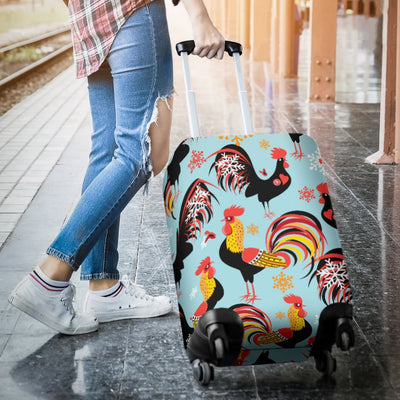Rooster Themed Design Luggage Cover Protector