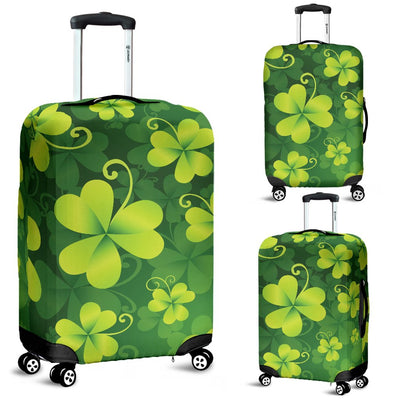 Shamrock Clover Print Luggage Cover Protector