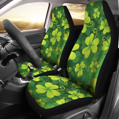 Shamrock Clover Print Universal Fit Car Seat Covers