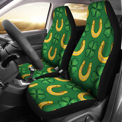 Shamrock Horseshoes Print Pattern Universal Fit Car Seat Covers