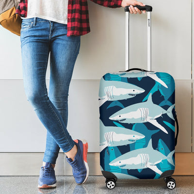 Shark Design Print Luggage Cover Protector