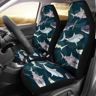 Shark Pattern Print Universal Fit Car Seat Covers