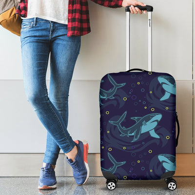 Shark Themed Print Luggage Cover Protector
