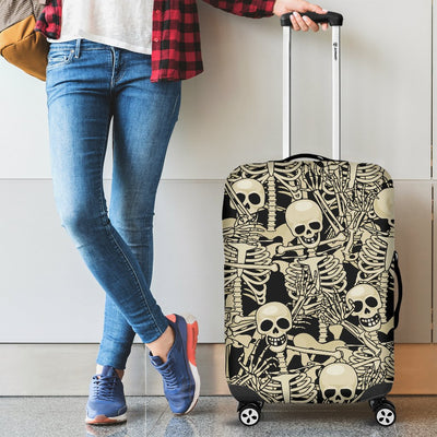 Skeleton Design Print Luggage Cover Protector