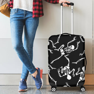 Skeleton Style Print Luggage Cover Protector
