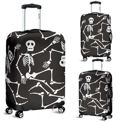 Skeleton Themed Print Luggage Cover Protector