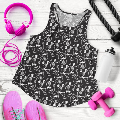 Skeleton Themed Print Women Racerback Tank Top