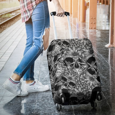 Skull Tattoo Design Print Luggage Cover Protector